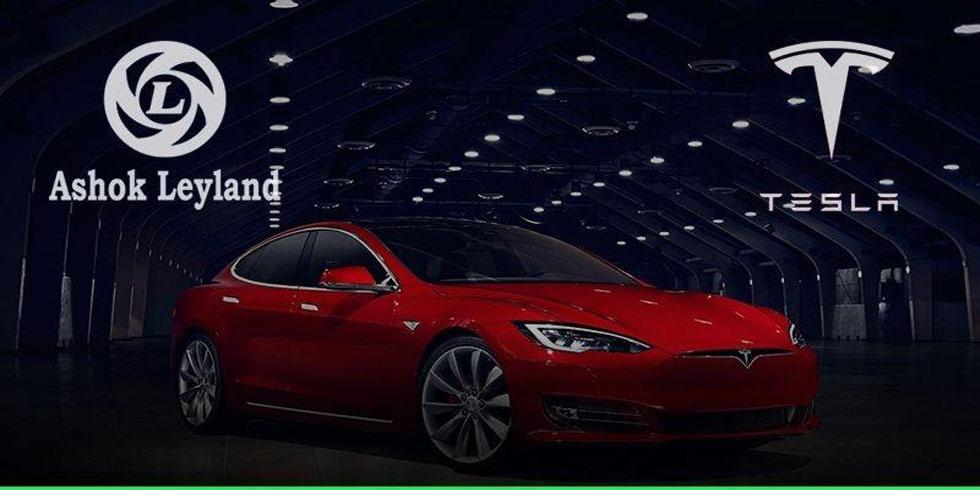 Ashok Leyland To Partner With Telsa Electric Cars